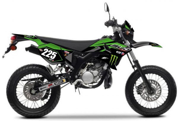 kit déco yamaha 50 dt bud racing monster 2018. eight racing factory stickers graphics décals