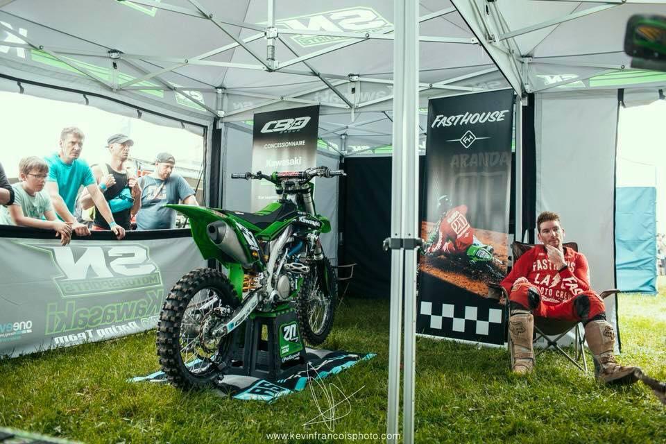 kit déco motocross kawasaki 450 kxf team sn cbo motorsport 2018 greg aranda
