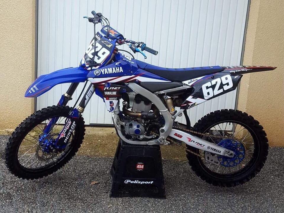 kit déco et housse de selle yamaha 250 yzf motocross