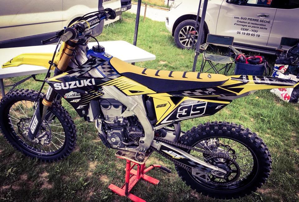 kit déco et housse de selle motocross suzuki 450 rmz 2019