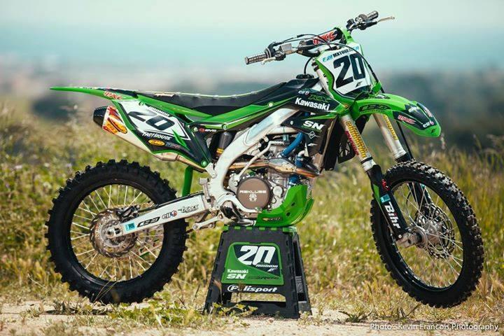 kit déco motocross kawasaki 450 kxf team sn cbo motorsports 2018