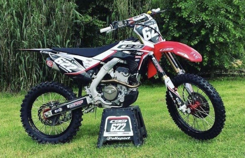 kit déco motocross honda 250 crf mika lamarque
