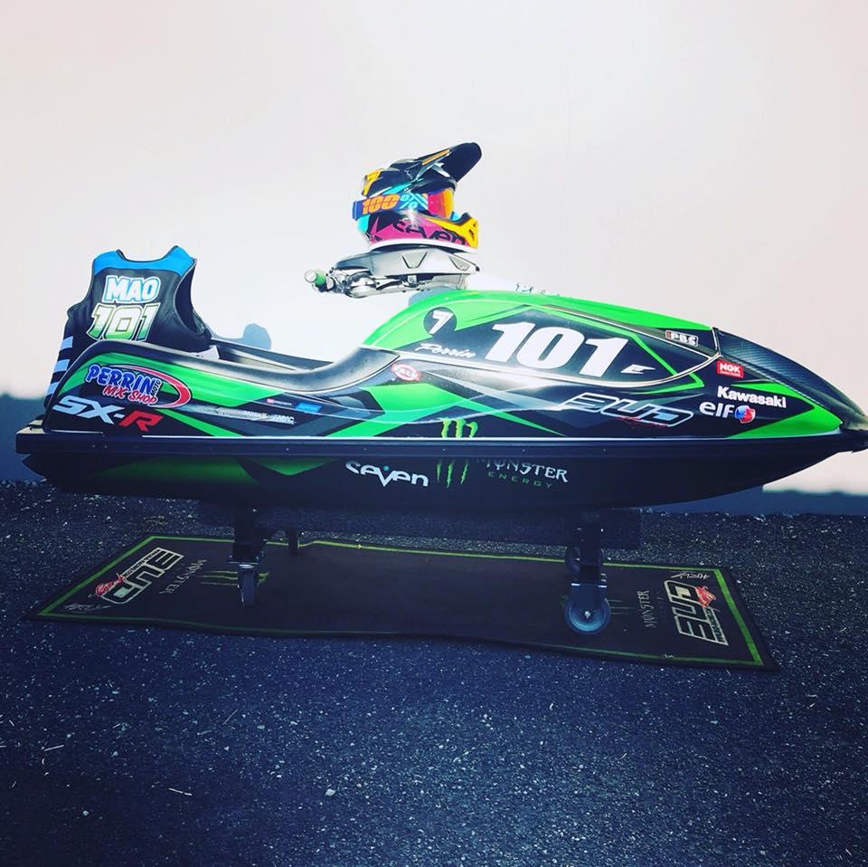 kit déco jetski kawasaki 800 sxr team bud racing 2018