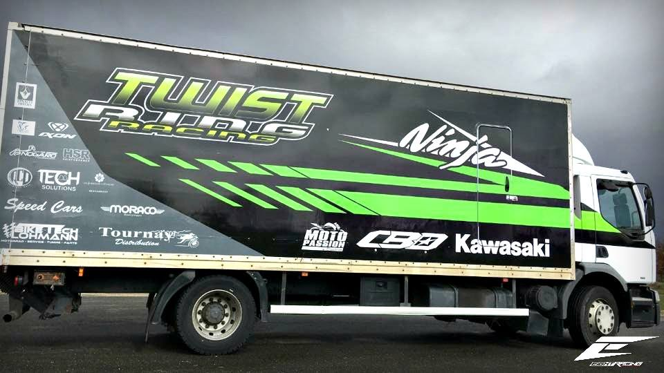 flocage camion twist racing