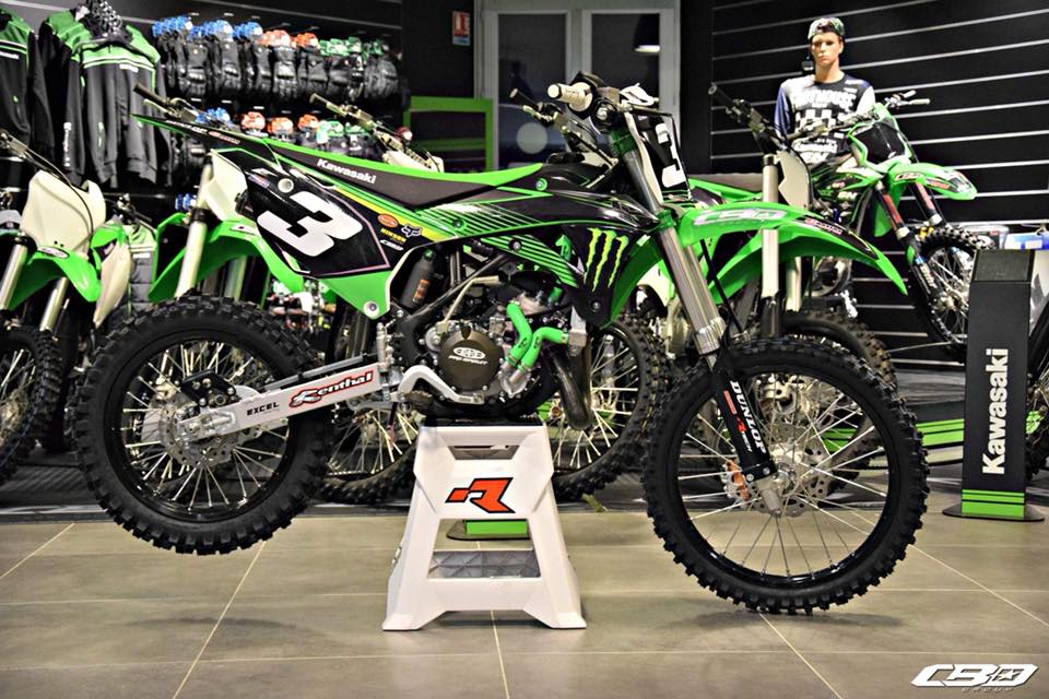 kit déco motocross kawasaki 85 kx réplica monster energy