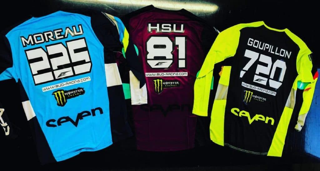 flocage maillot seven team bud racing