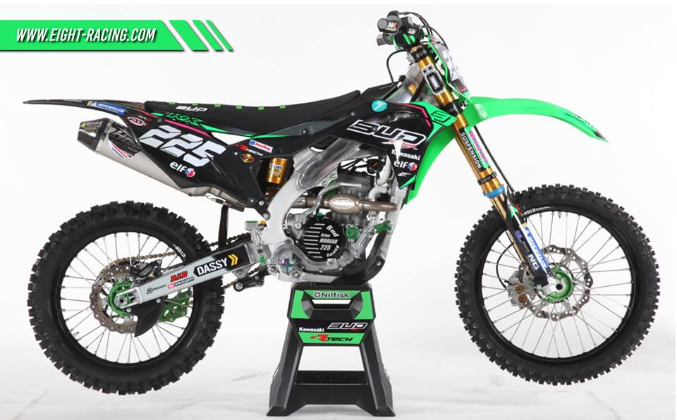 kit déco 250 kxf team bud racing 2019
