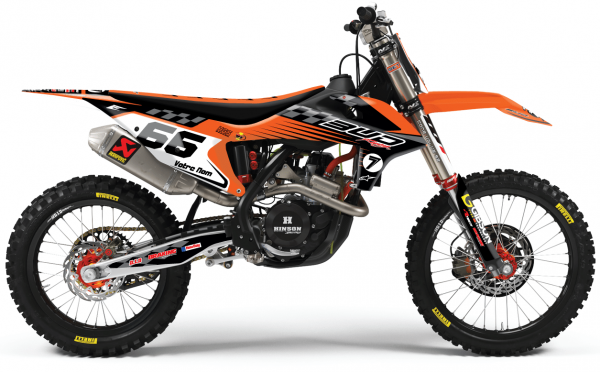 kit déco complet personnalisable pour motocross ktm sx / sxf de 2000 à 2020 bud racing cheeckers. eight racing factory stickers décals graphics.