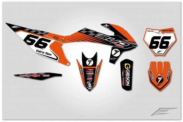 kit déco ktm sx sxf bud racing cheeckers eight racing factory stickers graphics décals