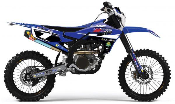 kit déco complet personnalisable pour moto enduro yamaha 250 450 wrf de 2000 à 2020 yamaha bonneton 2 roues 2019. eight racing stickers graphics décals.