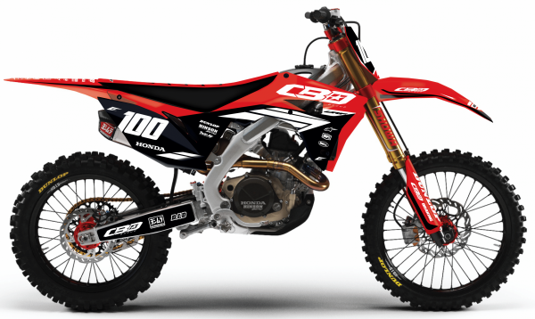 kit déco motocross honda 250 450 crf cbo group 2018 eight racing factory stickers graphics décals