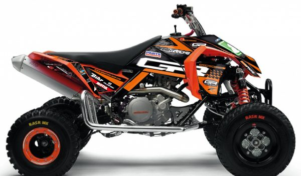 kit déco complet et personnalisable pour quad ktm 450 505 sx 450 xc de 2000 à 2020 gr motors and cycles 2019. eight racing factory stickers graphics décals.