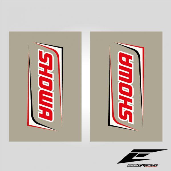kit déco stickers adhésif autocollant pour fourche showa fond transparent