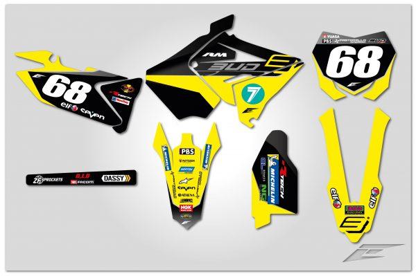 kit déco suzuki 125 250 rm restyle bud racing 2019 eiht racing motocross decals stickers graphics