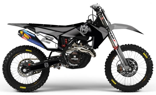 kit déco husqvarna tc fc 125 250 350 450 eight racing nardo gris series 2019 mx motocross decals graphics