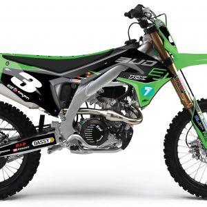 Kit déco BUD Racing 2019 Réplica Kawasaki 450 KXF.