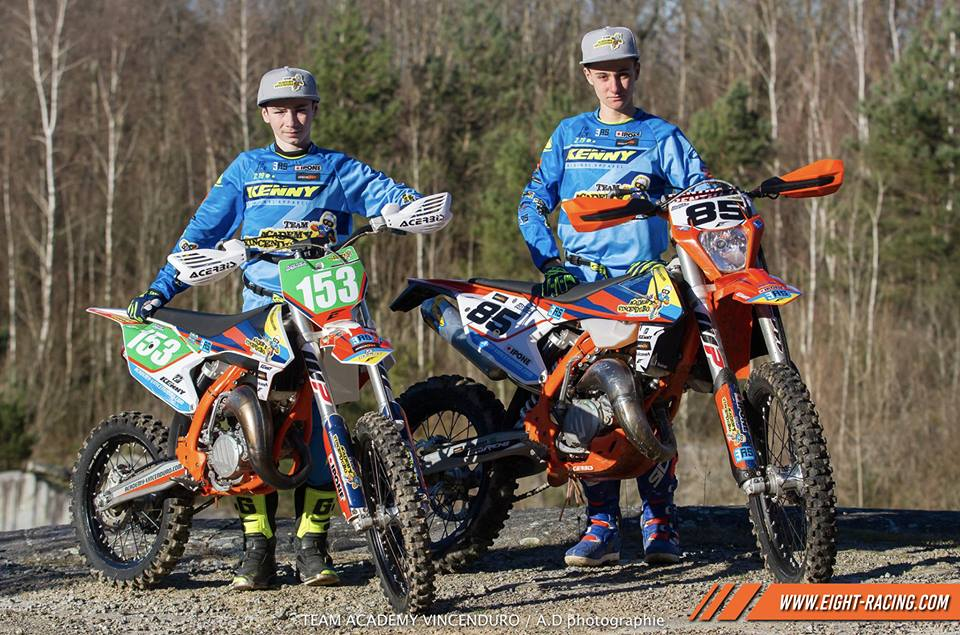 kit déco ktm sx exc team enduro vincenduro