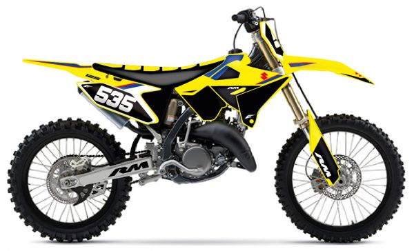 kit déco suzuki 125 250 rm restyle kit origine réplica 4 temps eight racing motocross mx decals stickers graphics