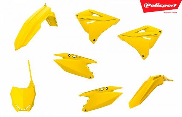kit plastiques polisport pour suzuki 125 250 rm restyle 2019 imitaion quatre temps. eight racing plast mx decals stickers graphics