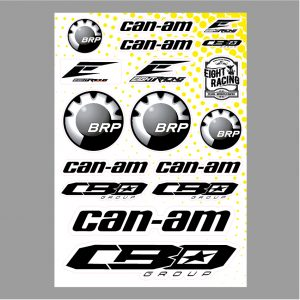 Planche de stickers CBO Group Can-am 2019.