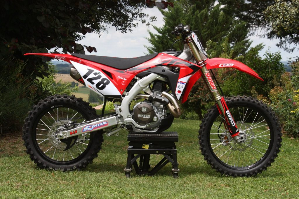 kit déco et housse de selle honda 450 crf eight racing factory stickers graphics décals