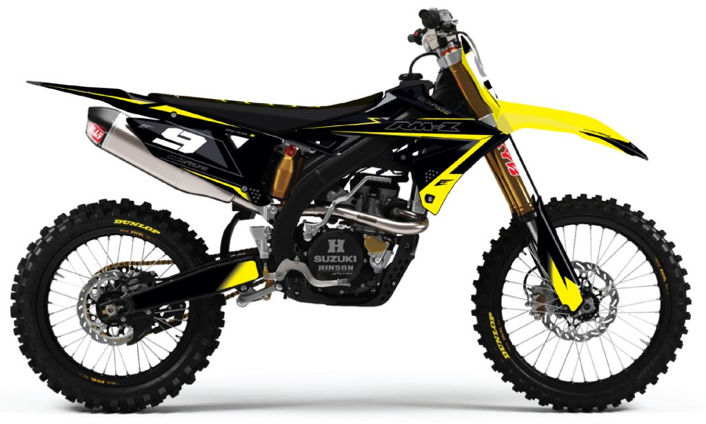 Kit Déco Semi Perso Flash Suzuki 450 RMZ.