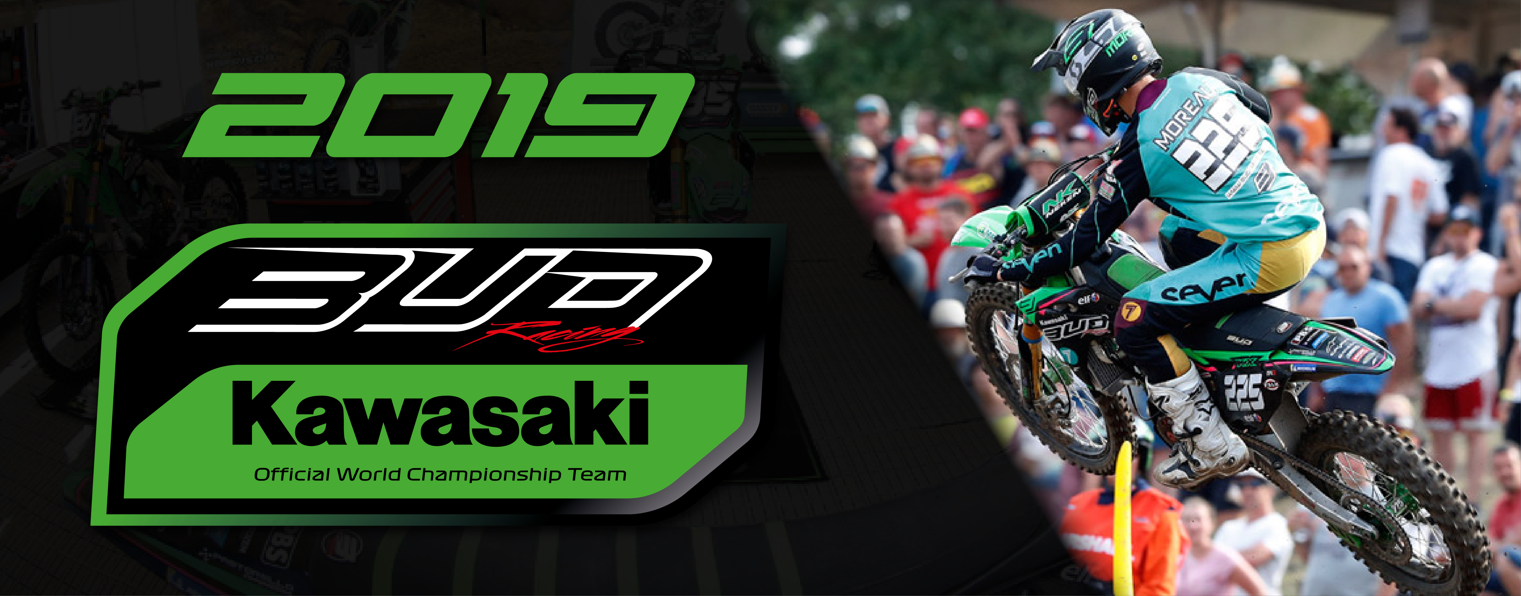 kit déco kawasaki team bud racing 2019 eight racing factory stickers graphics décals