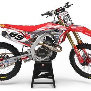 Kit déco Team Honda SR Motoblouz 2020 réplica Honda 450 CRF.