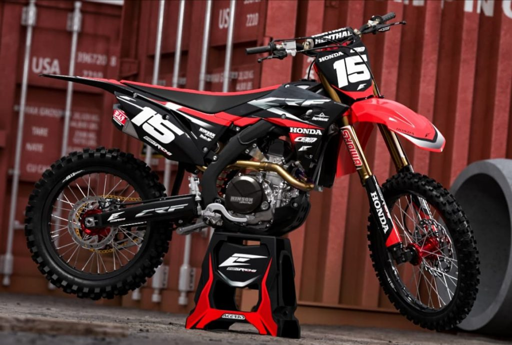 kit déco honda 250 450 crf eight racing factory stickers graphics décals