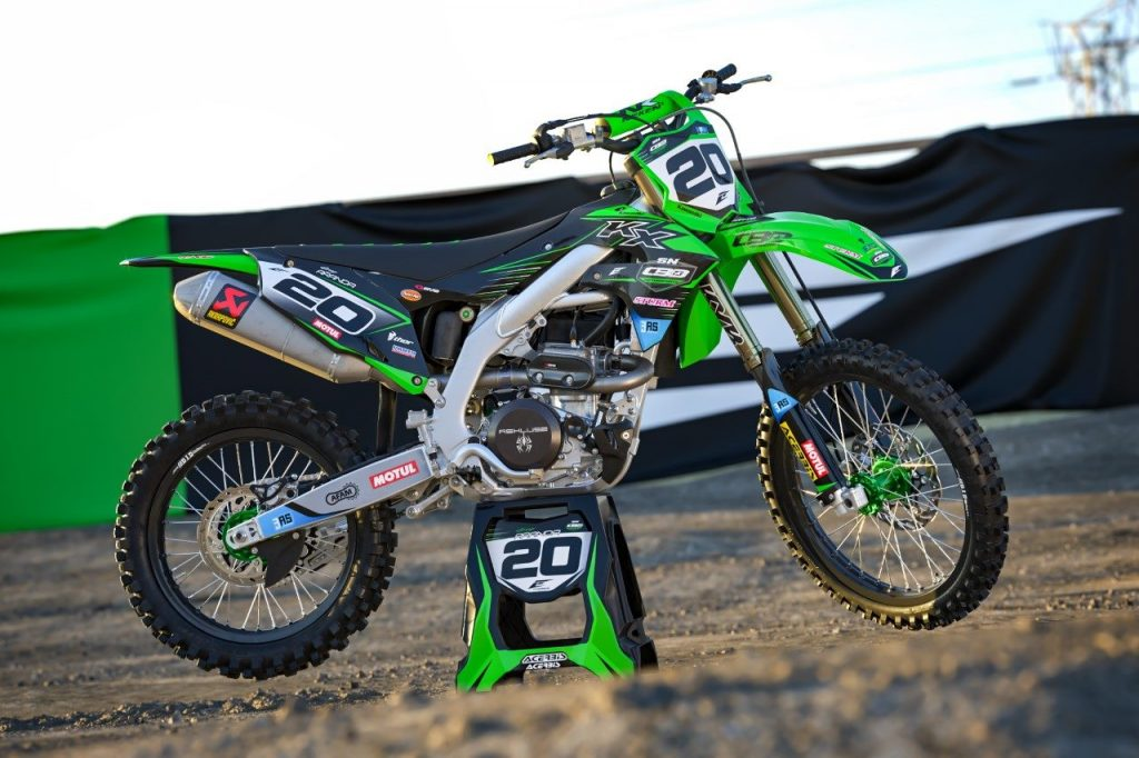 kit déco motocross kawasaki 450 kxf team SN CBO Motorsports 2019 eight racing factory stickers graphics décals