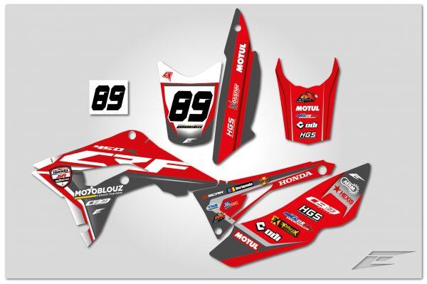 kit déco quad atv 450 crqf réplica team honda sr motoblouz 2020 eight racing factory stickers graphics décals-01