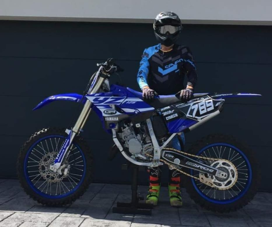 kit déco yamaha 125 yz gr motors 2019 eight racing factory stickers graphics décals