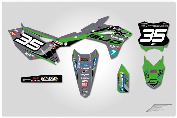 kit déco motocross supercross kawasaki 250 kxf team bud racing 2019 paris sx gris eight racing factory stickers graphics décals montage-01