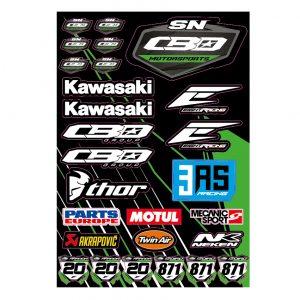 Planche de stickers Team SN CBO Motorsports 2019.