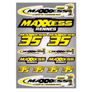 Planche de stickers Maxxess Rennes.