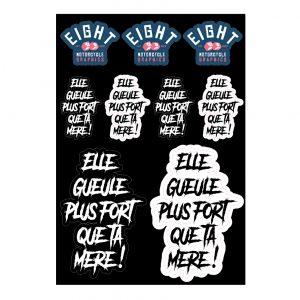 Planche de stickers «Elle gueule…»