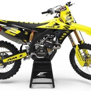 KIT DÉCO SUZUKI GRADIAN SERIE BLACK/YELLOW SEMI PERSO
