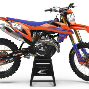 KIT DÉCO KTM FLASH SERIE ORANGE / BLUE SEMI PERSO