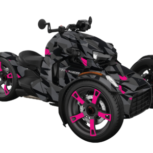 KIT DÉCO 3 ROUES CAN-AM CAMO PINK REPLICA