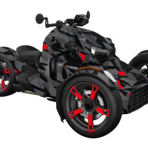KIT DÉCO 3 ROUES CAN-AM CAMO RED REPLICA