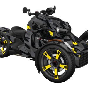 KIT DÉCO 3 ROUES CAN-AM CAMO YELLOW REPLICA