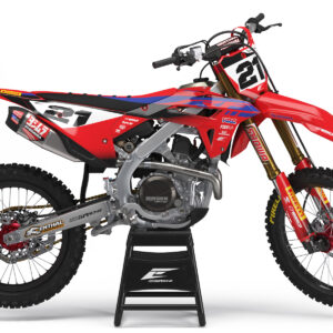 KIT DÉCO HONDA STRIKE SERIE RED/BLUE SEMI PERSO
